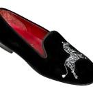 Stubbs & Wootton Scalamandre zebra slippers 1