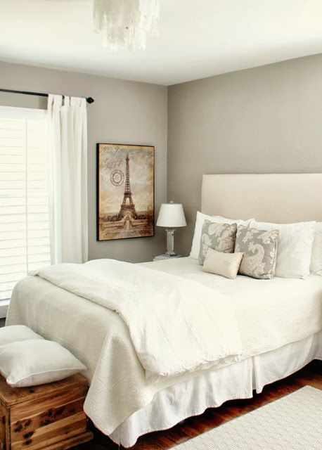 amazing bedroom gray color schemes | Paint Ponder: Worldly Gray | carla moss interiors