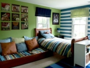 Stem-green-by-Benjamin-Moore-combined-with-blue-and-white-stripes