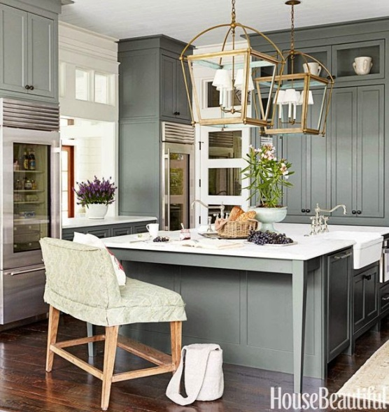 grey kitchen house beautiful
