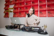 DJ Lucy Wrubel at the Thrift Studio Kickoff Party at Cantoni_by Daniel Driensky