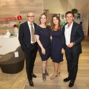 Stefano Uliana, Kim Turner, Lisa Robison, Michael Wilkov at the Thrift Studio Kickoff Party at Cantoni_by Daniel Driensky